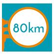 80 km di pista ciclabile